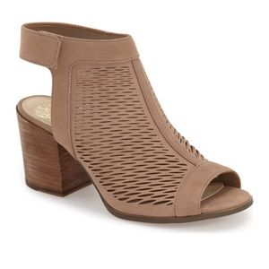 Vince Camuto Perforated Peep Toe Nude Bootie, 9